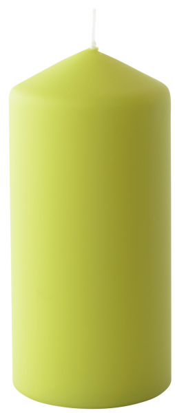 Duni Stumpenkerzen 70x150mm, matt kiwi  - 2x6 Stück