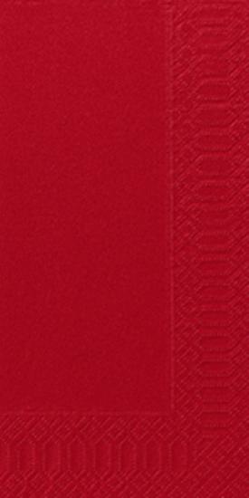 Duni Zelltuch Servietten 33x33 3lg 1/8 BF rot - 4x250 Stück