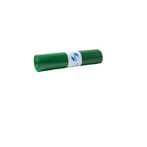 DEISS Müllsack 70 l grün Typ 60 (35µ), 575 x 1000 mm , LDPE ( 1 Rolle = 25 Stück )